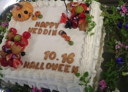 ウエディングケーキもハロウィン仕様